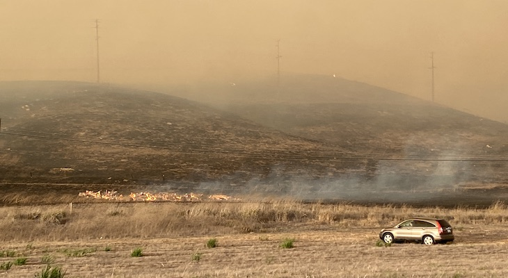 Alisal Fire (Photo: Scanner Andrew)