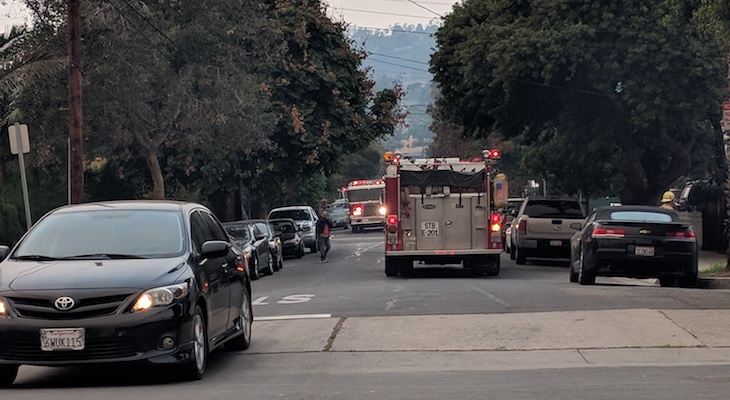 Electrical Fire on N. Alisos title=