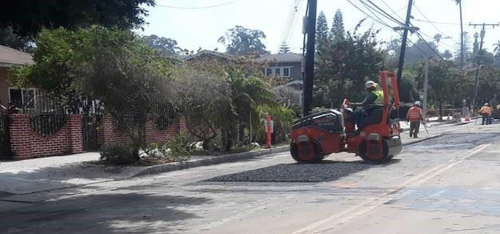 Paving Maintenance on Anacapa Street