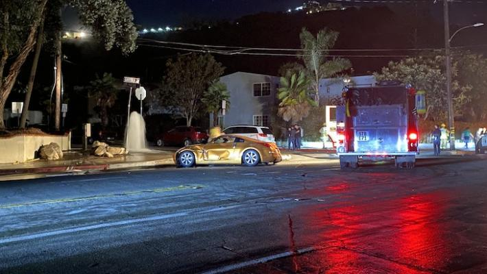 Traffic Collision Hit Hydrant, Causes Power Outage