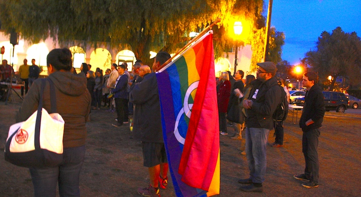 Santa Barbara Rallies Against Hate title=
