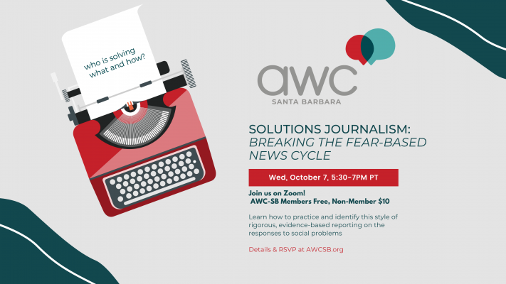 Solutions Journalism - AWC meeting for October title=