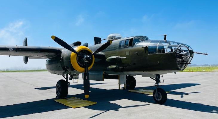 B-25 Lands in Santa Barbara