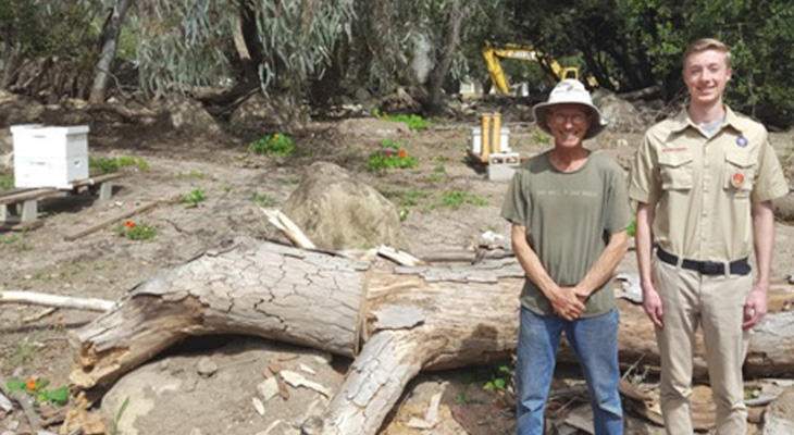 Eagle Scout Project Benefits Santa Barbara Beekeepers Association