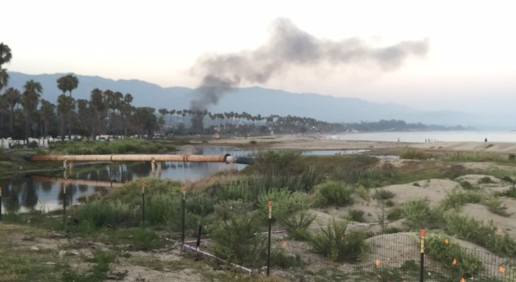 Brush Fire Along Highway 101
