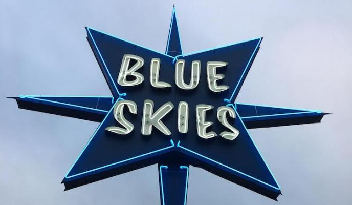 Blue Skies Sign is Back! title=
