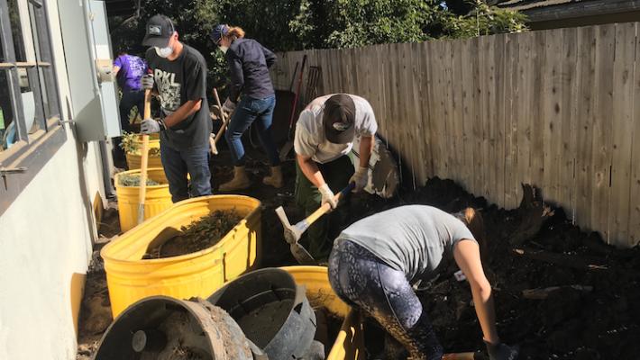 Volunteers Create Bucket Brigade to Help Montecito