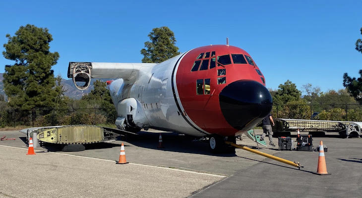 Crashed C-130 Leaving Santa Barbara Airport