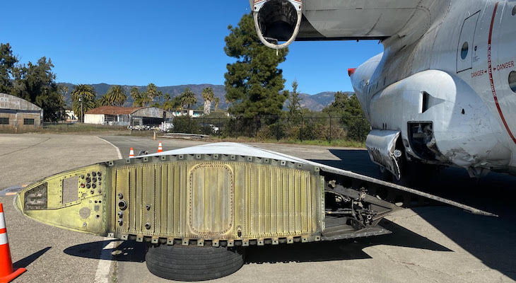 Crashed C-130 Leaving Santa Barbara Airport