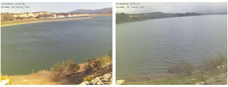 Cachuma Lake Growth in 5 Months