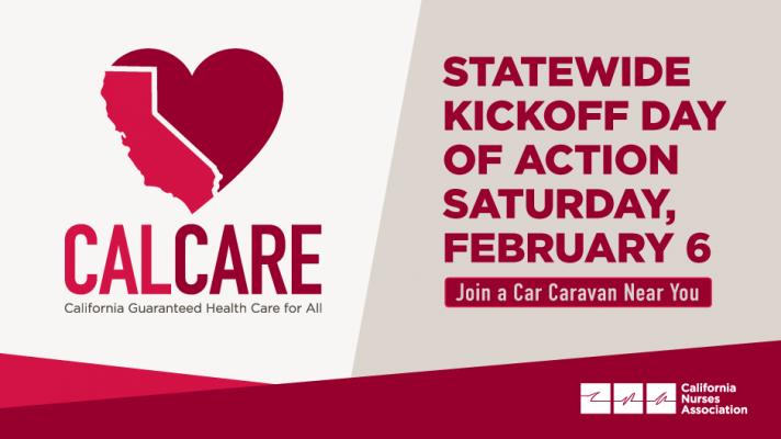 Goleta-Santa Barbara CalCare car caravan for MEDICARE FOR ALL - Sat. Feb. 6 title=