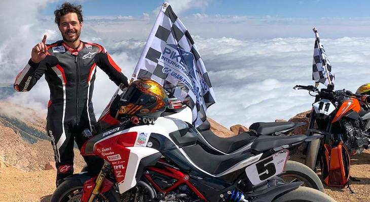 Santa Barbaran Wins Pike's Peak Motorcycle Race title=