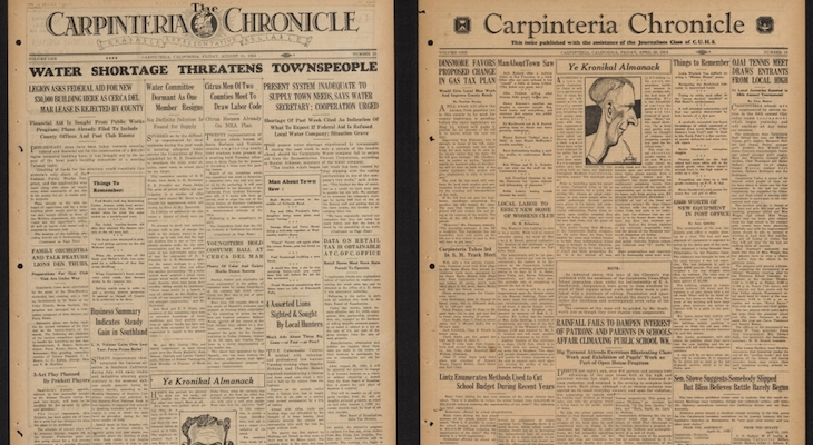 Carpinteria History Revealed in Old Newspapers