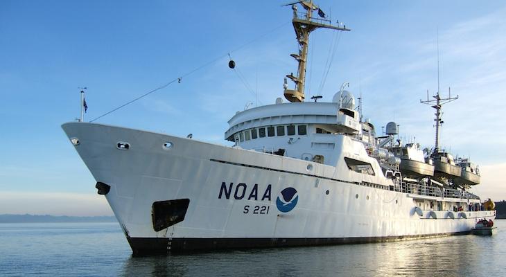 NOAA Ship Rainier Surveying Channel Islands National Marine Sanctuary