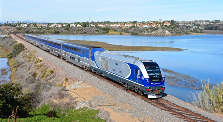 Cleaner Diesel-Electric Locomotives Now in Service on Amtrak Pacific Surfliner Trains title=