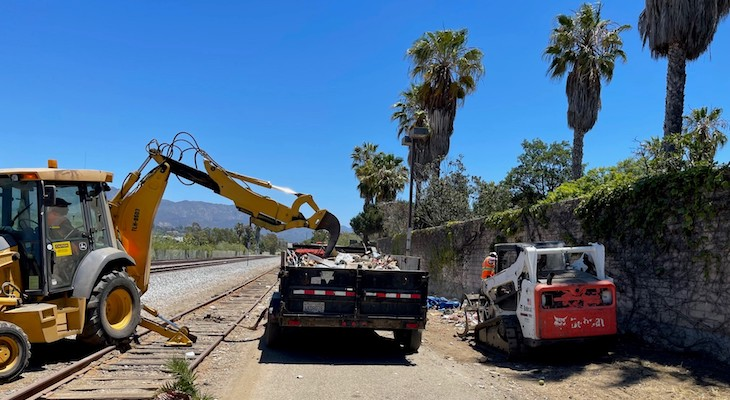 Multiple Agencies Clean Up Homeless Camps in Santa Barbara