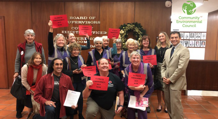 Santa Barbara County Board of Supervisors Recognize Climate Emergency title=