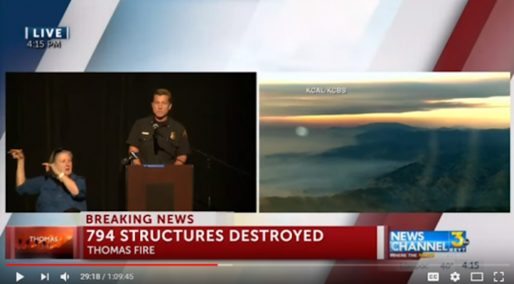 Thomas Fire Community Meetings to Take Place Daily