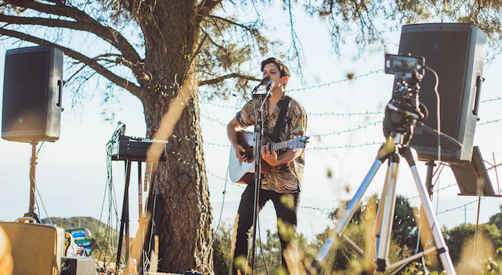 Conner Cherland performing at a secret socially-distanced outdoor concert (courtesy photo)