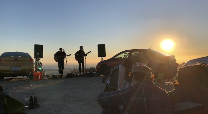 Will Breman and Conner Cherland performing at a secret socially-distanced outdoor concert (edhat photo)