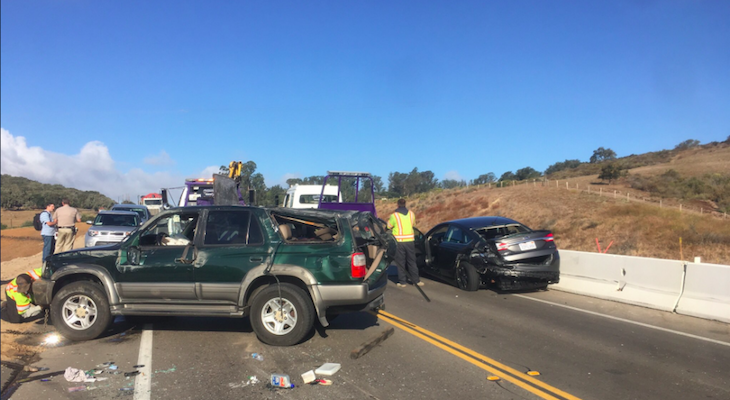 Three-Vehicle Accident in Lompoc