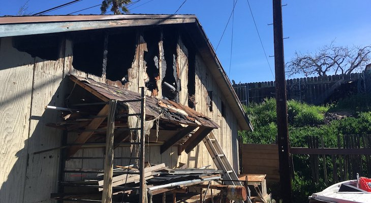 Firefighters Knock Down Fire in Orcutt Garage title=