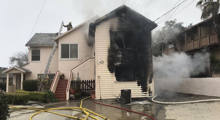Six Displaced in Solvang Apartment Fire title=