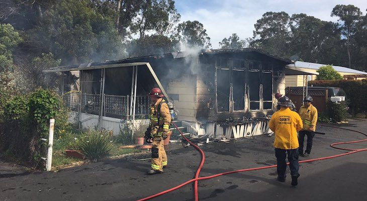 One Injury in Goleta Mobile Home Fire title=