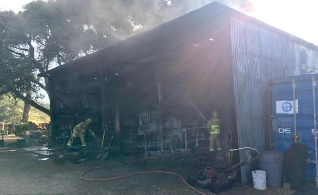 Buellton Equipment Shop Destroyed in Fire title=