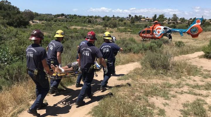 Cyclist Suffers Major Injuries While Mountain Biking