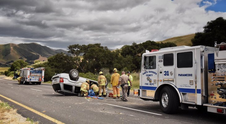 Rollover Traffic Collision Injures One on Highway 246