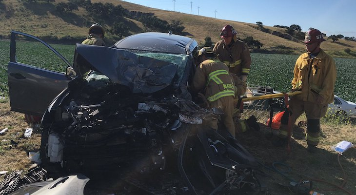 Head-on Collision Injures Four Near Highway 135