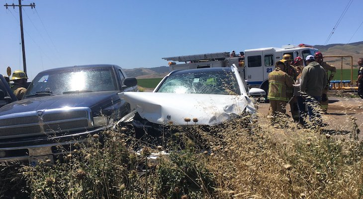 Four Injured in Highway 1 Collision title=
