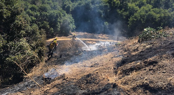 Forward Progress Stopped in Turnpike Brush Fire title=