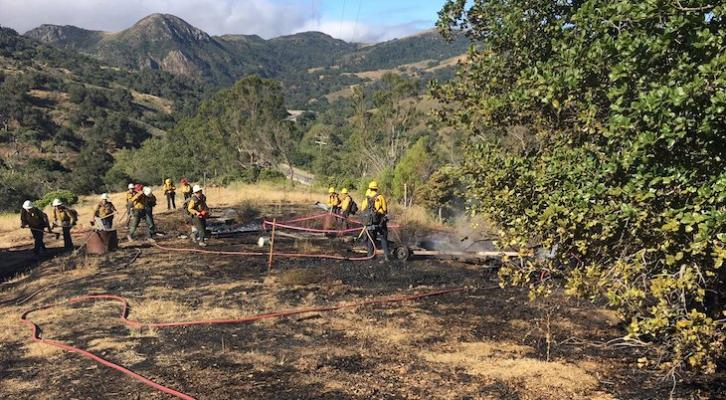 Firefighters Contain Small Gaviota Brush Fire title=