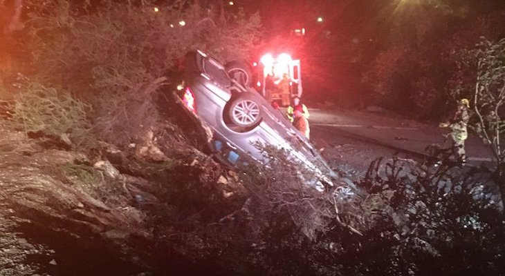 Rollover Traffic Collision on Highway 101 title=