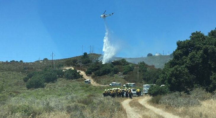 Power Lines the Cause of Harris Grade Fire