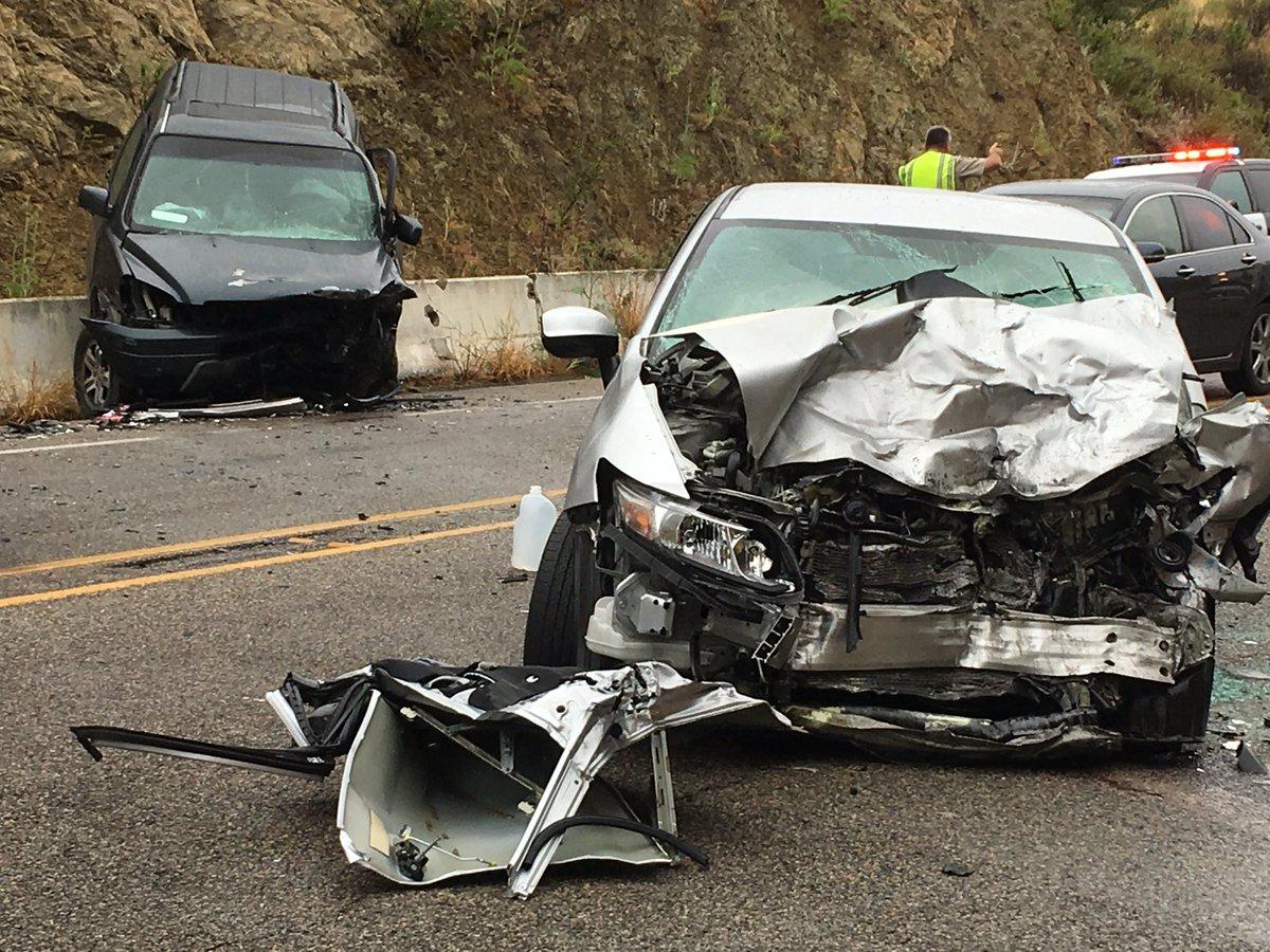 Traffic collision on Highway 154 in Santa Barbara title=