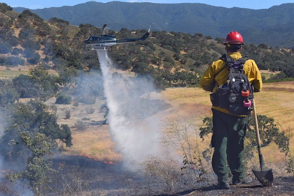 Vegetation Fire at Happy Canyon  title=