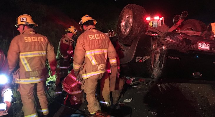 Vehicle Rollover on Highway 154 Sends One Man to the Hospital title=