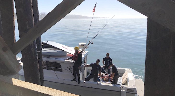 Woman Rescued in the Ocean Off Goleta Beach title=
