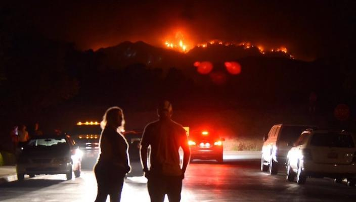 Whittier Fire Flare Up Not A Threat