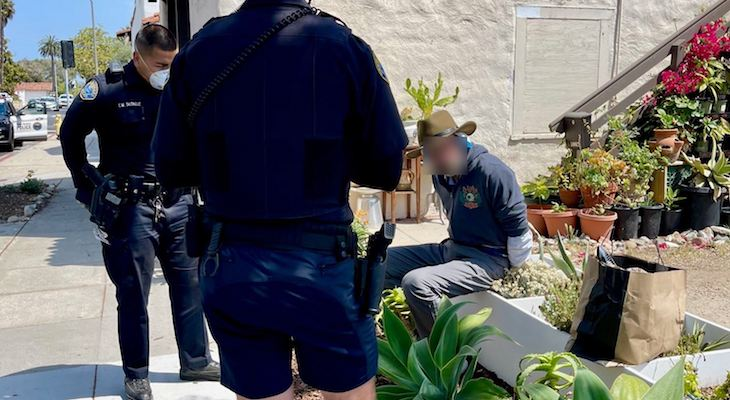 Santa Barbara Police Arrest Scissor Wielding Suspect