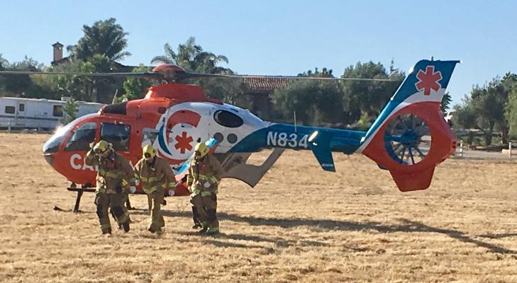 Santa Barbara County Fire Responds to Accident in Solvang title=