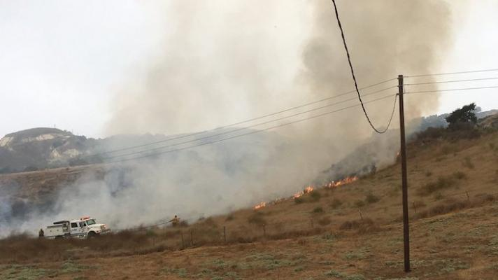 4 Acre Brush Fire on Cat Canyon