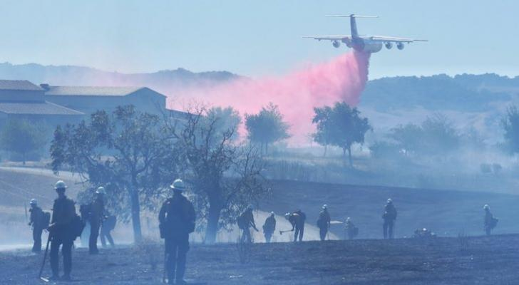 139 Acre Fire Contained Santa Ynez Airport