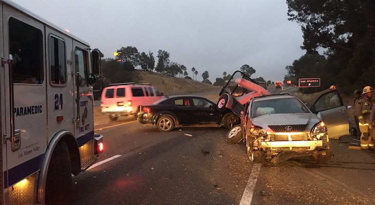 Seven Vehicles Involved in Highway 101 Collision