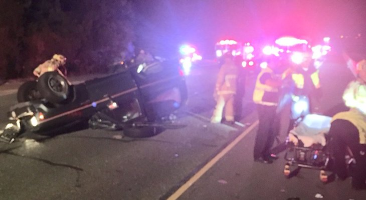 Highway 217 Closed After Rollover Vehicle Collision