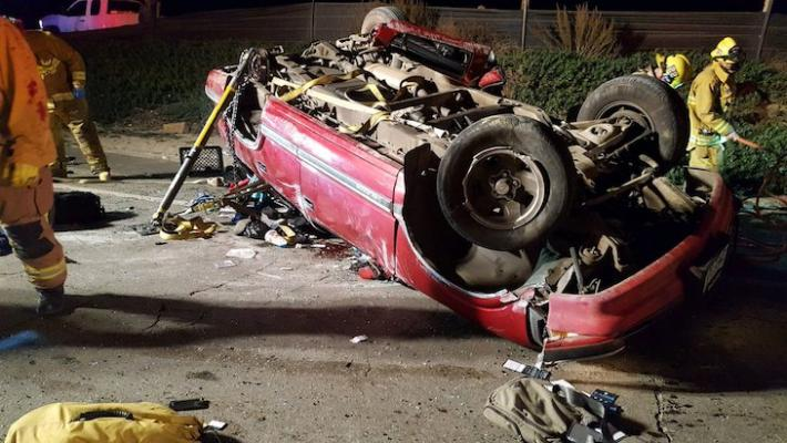 Woman Airlifted to Hospital After Rollover Collision title=