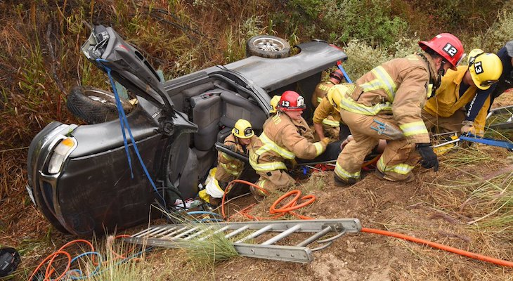 Life Threatening Injury in Highway 154 Vehicle Rollover